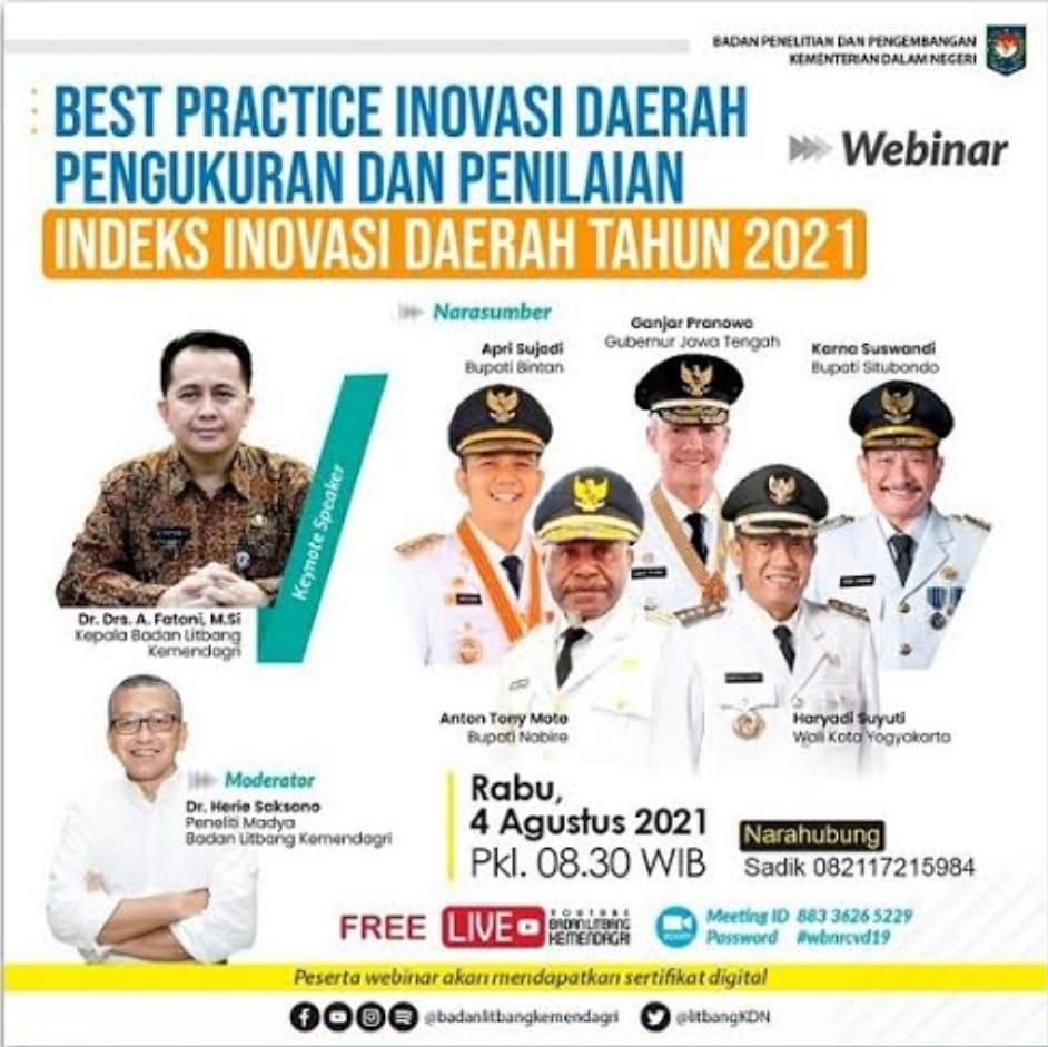 Best Practice Inovasi Daerah Pengukuran dan Penilaian Indeks Inovasi Daerah Tahun 2021